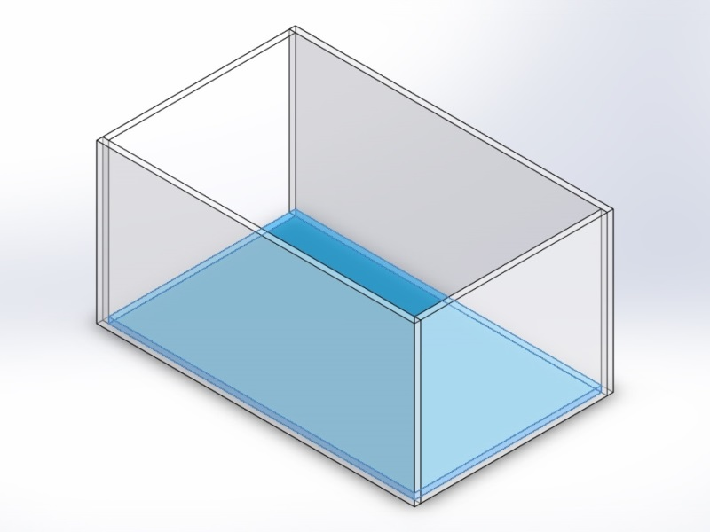 Assemblage aquarium, côtés autour du fond